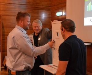 Her vant Lars Erik Seime et hus fra Hedalm Anebyhus på finalen i Boligmessekonkurransen 2014..