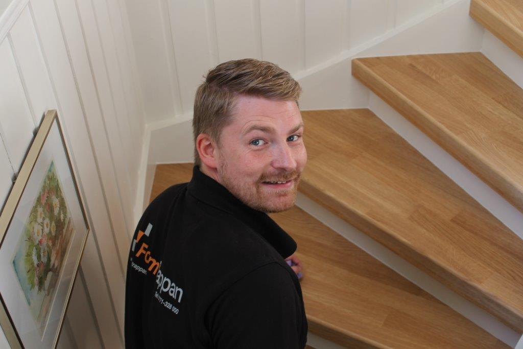 Daniel Edlander i FormTrappan ser frem til å hjelpe enda flere nordmenn med trappefornyelse.